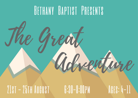 Bethany HBC 2017 The Great Adventure FRONT